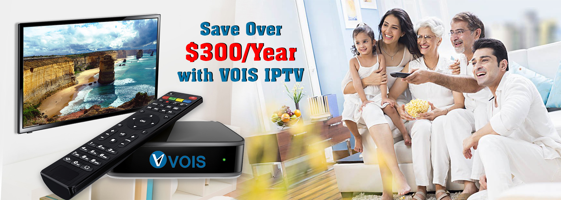 VOIS IPTV is the best set top box with full HD Channels in