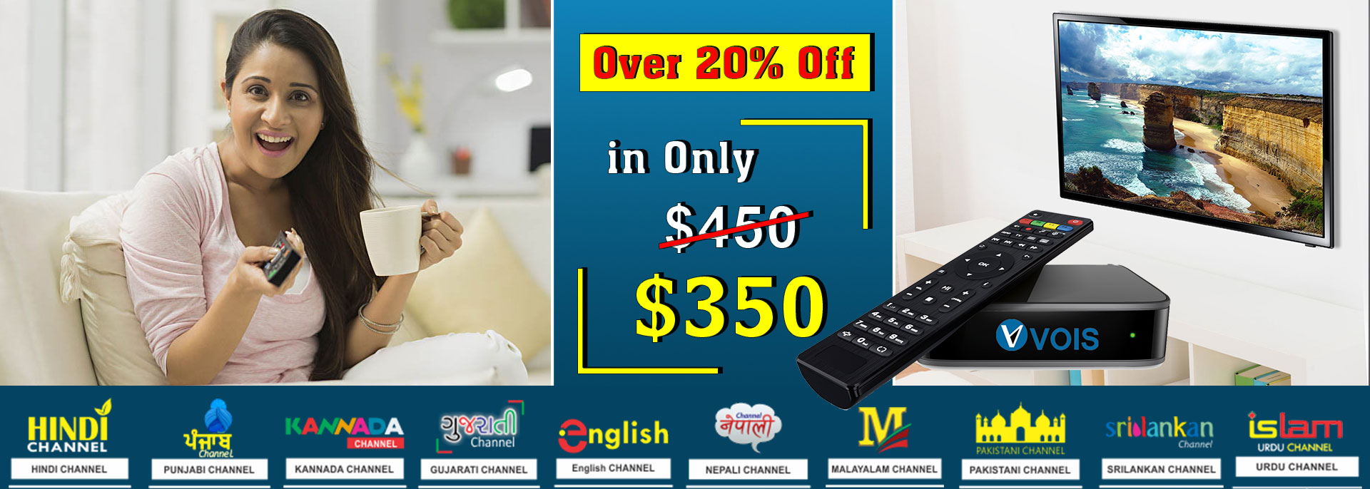 Indian iptv box now at $350